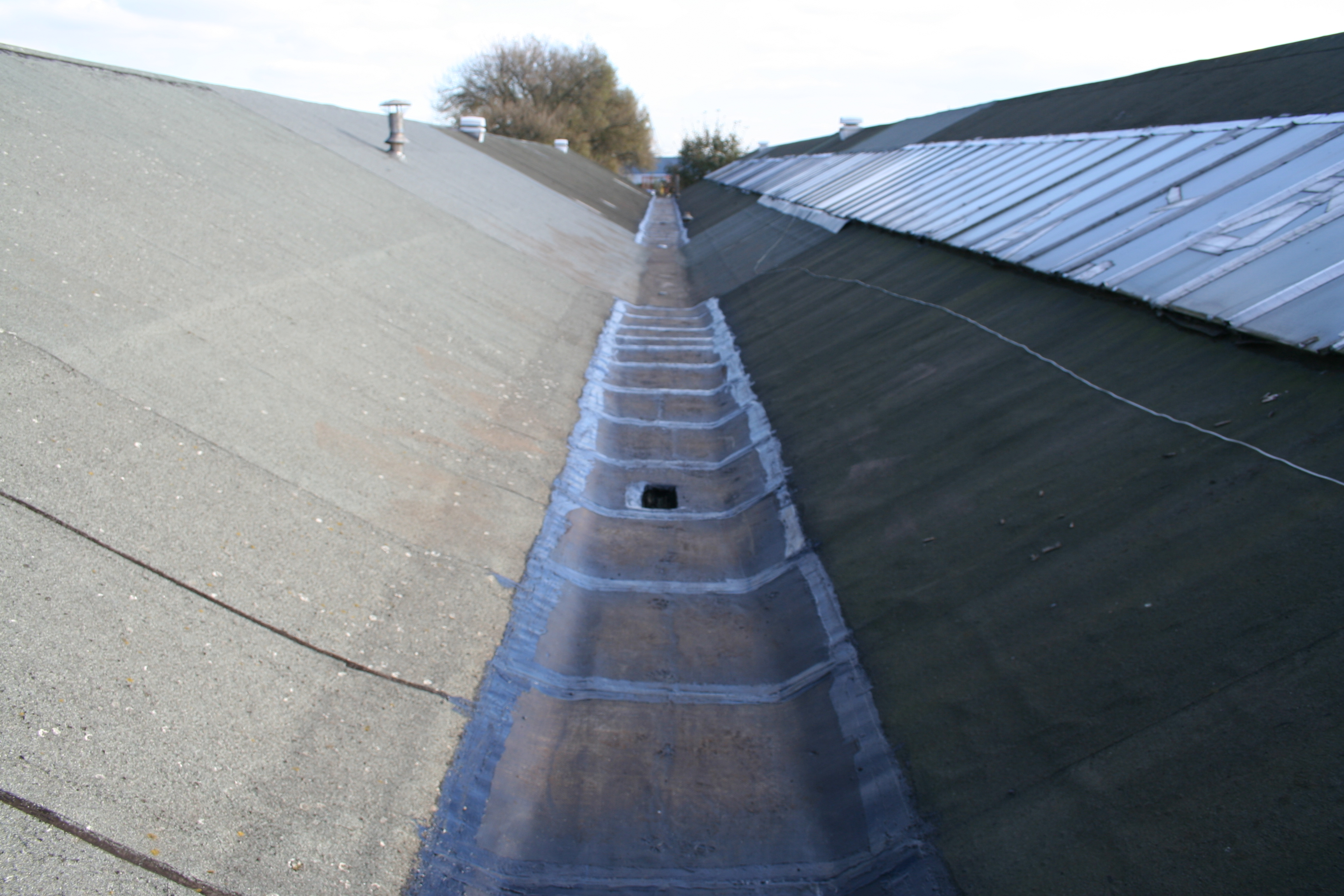 Gutters To Factory Buildings
