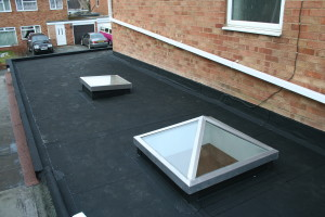rubber roofing lights installation