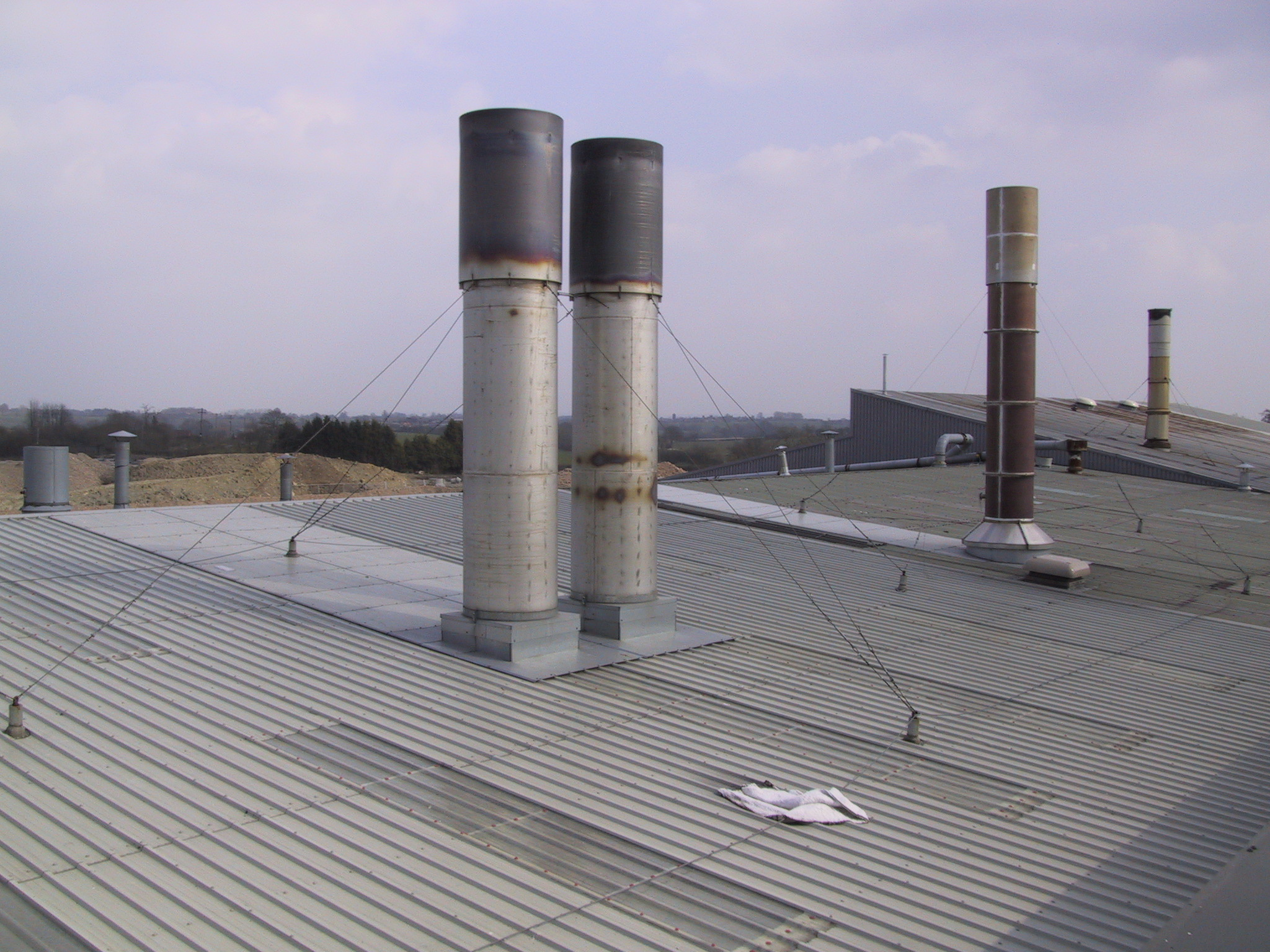 Leaking Chimney In Factory Roof