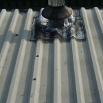 leaking roof flue repairs