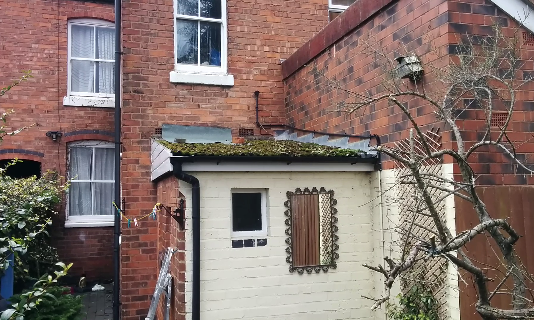 Asbestos Sheets Replaced With Rubber Roofing