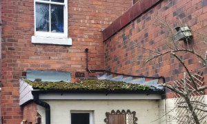 Asbestos Sheets on a Bathroom Roof